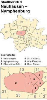 Schlüsseldienst für München-Neuhausen-Nymphenburg - Türöffnung zu fixen Preisen - Notdienst-Hotline kostenlos